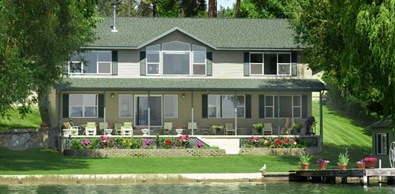 Modular Home By Lake